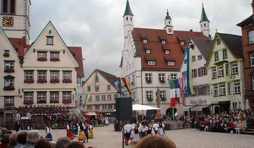 "The marketplace of Biberach during the ""Biberacher Schüzenfest"""