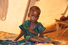 A malnourished child in an MSF treatment tent in Dolo Ado, Ethiopia (DFID - UK Department for International Development) Tags: refugees hunger ethiopia somalia famine msf savethechildren foodcrisis displacedpeople doloado ukaid