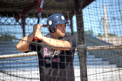 Jason Caccia from PSP Milton Taking Swings