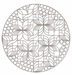 Crystal Ball (Marguerite1997) Tags: autocad zentangle crystalpattern
