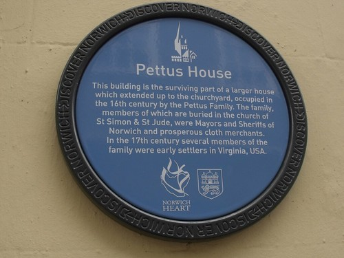 Discover Norwich blue plaque of Pettus House