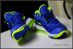 (Never Wear Them) Tags: blue white max green basketball electric shoes air 8 sprite nike viii sprites volt lebron