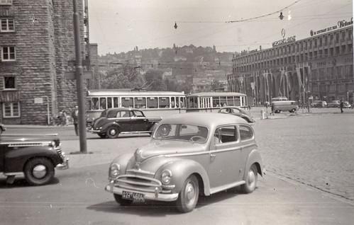 Arnulf-Klett-Platz, Stuttgart, Germany. 1950s.