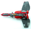 DEF-Lego-DK40-RedFighter-7 (delta.triangle) Tags: red star fighter lego space spacecraft moc raiden numodenet