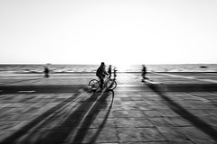 Shadow rider [explored] (Nick-K (Nikos Koutoulas)) Tags: road shadow bicycle thessaloniki panning rider