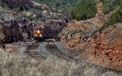 BNSF 7321 East 1 (ChasingSteel.com) Tags: railroad arizona train bnsf intermodal 7321 7247 4991 7535 gees44dc transcon gedash944cw 2803000mmf3556 seligmansubdivision chasingsteelcom westdoublea