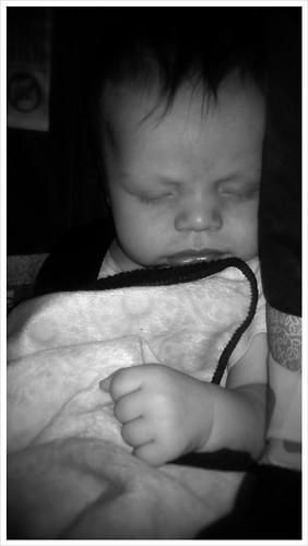 My sleeping sweetie he has such big hands!