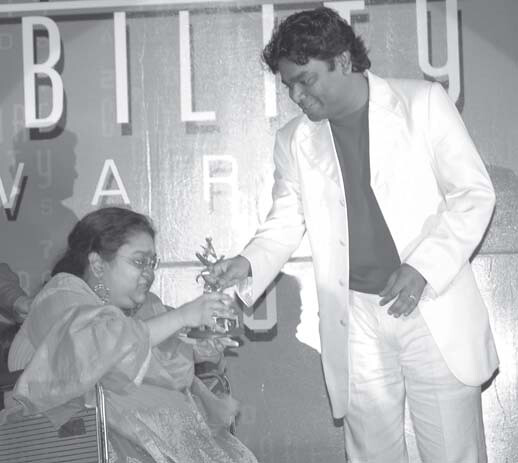 """RADHA ROY, a wheelchair user, the other singer to perform with AR Rahman at the Awards, greeted me with a shy smile. She was clearly overwhelmed by the fact that she was going to share the stage with Mr. Rahman and was breathless with excitement! As she sang a song from the movie """"Kyun Ki"""" I was captivated by her beautiful voice. No wonder Mr. Rahman had a special word of praise for Radha. Here's my tête-à-tête with her."""
