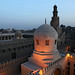 Mosque and minaret of Ibn Tulun view from Madrasah Amir Sarghatmish, Islamic Cairo, Egypt エジプト、カイロ、ガーマ・イブン・トゥールーン
