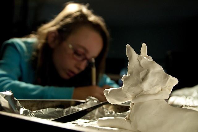 Sculpting Anubis