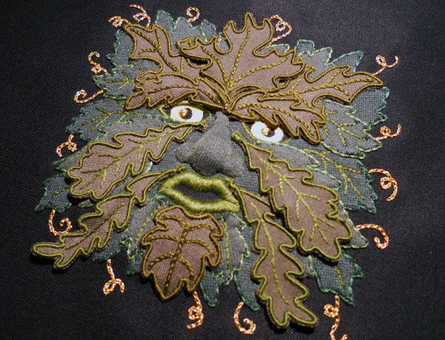 Stumpwork Green Man