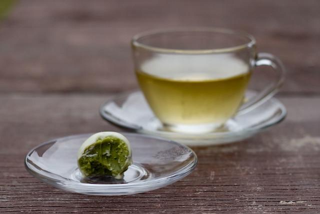 Chá e Trufa de Chá Verde