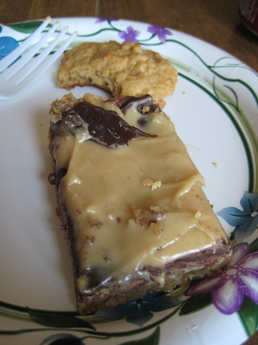 peanut butter and chocolate bar, pb cookie