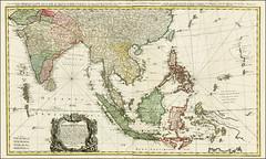 Carte des Indes Orientales 1748 by Tobie Mayer - Bản đồ các nước Đông Ấn (ngày nay là Ấn Độ và các nước Đông Nam Á)