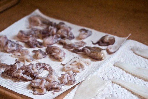 squid, drying