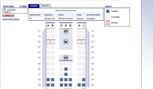 New Standard American Airlines Seat Map