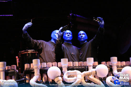 Blue Man Group founders bald and blue for the fans one final time.