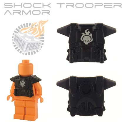 Shock Trooper Armor - Black  (white skull emblem)
