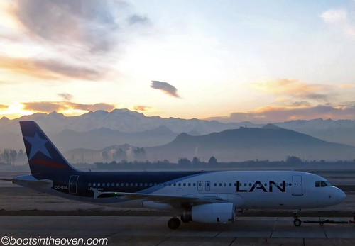 Early Morning Takeoff, Santiago de Chile