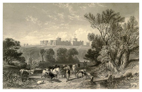 001-Castillo de Windsor desde el camino entre Datchett y Eton-Windsor Castl and its environs 1848- Ritchie Leitch