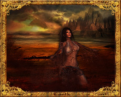 Earth (~Yasmina Siamendes~) Tags: life light woman sunlight hot art texture broken nature girl digital photoshop landscape effects gold sand warm break arte desert earth dream award dreaming sl fantasy secondlife artists views brushes favourites second deviant fav deviantart effect favs apart breakapart yasminasiamendes