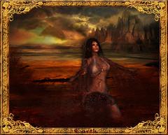 Earth (~Yasmina Siamendes~) Tags: life light woman sunlight hot art texture broken nature girl digital photoshop landscape effects gold sand warm b