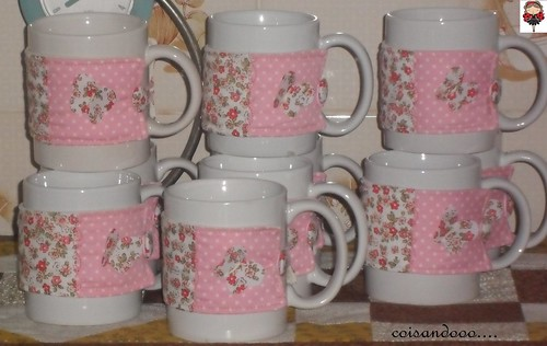 Mug dress e suas canecas by Coisando as Coisas by Clau
