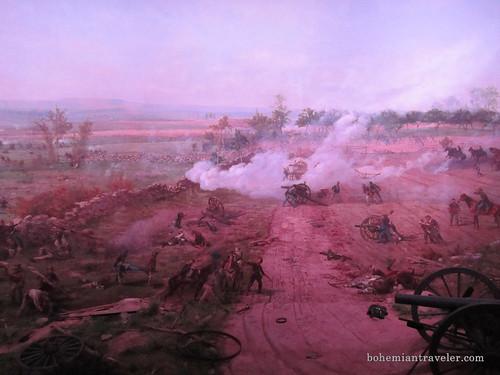 Gettysburg Battlefield painting