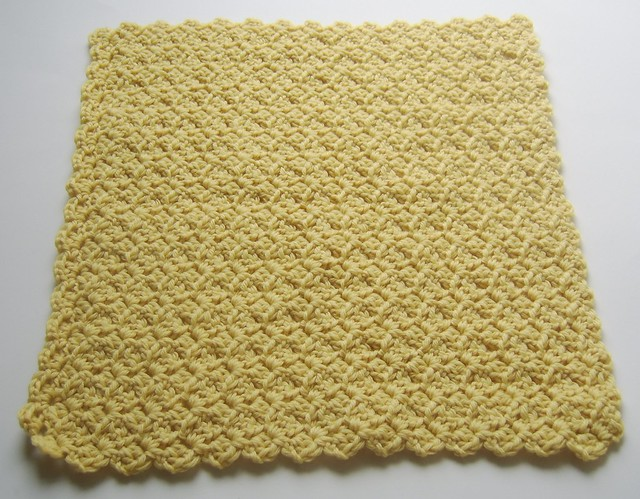 Crunchy Congo Knit Month<br>Sunshine Superwash Wool<br>Crocheted Lovey Blanket