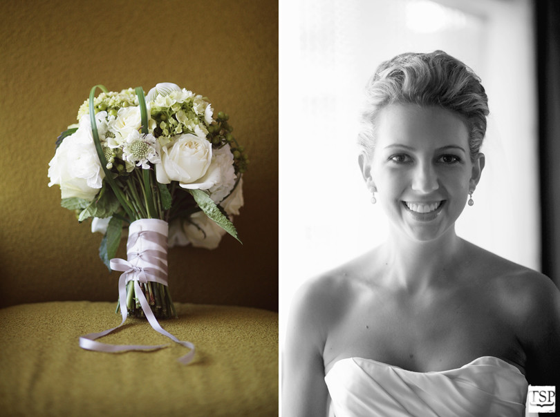 Bridal Portrait in Natural Light and Bouquet