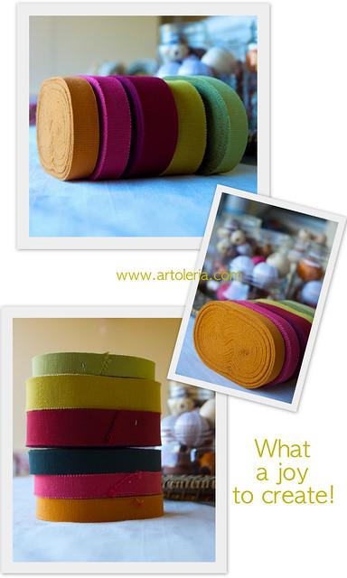 nastri di cotone colorati