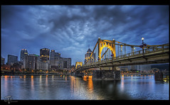 Blue Hour Bliss : ) (Theaterwiz) Tags: city river pittsburgh cityscape pennsylvania northshore bluehour criswell pittsburghskyline promote photomatix 7exposures canon1022efs canon7d hdrspotting promotecontrol promoteremotecontrol theaterwiz theaterwizphotography