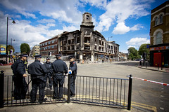 Police - Aftermath of tottenham riot. by AndrewPagePhotography