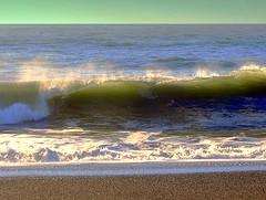 THUNDERING SURF - PACIFIC OCEAN,  CALIFORNIA (vermillion$baby) Tags: greenwaves pacificocean beach california coastal rocks sand surf vista northerncalifornia ocean coastline waves sea water wind blue wave landscape seascape coast pacific translucent color shore