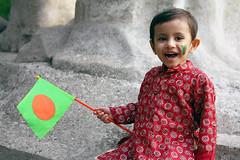 My Bangladesh (Russell John) Tags: boy red smile face painting happy kid day child flag dhaka independence bangladesh selectivecolorization selectivecolourisation dhakauniversity shadhinota 450d dibosh 55250mm bangladeshiflag russelljohn