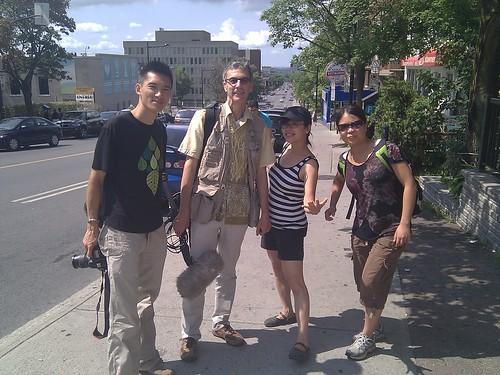 Avec @bethany_or @thought_cast @malguy @multimonde pour un doc sur les Chinois du Québec #chinoisqc)