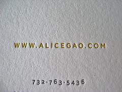 Alica Gao Business Cards
