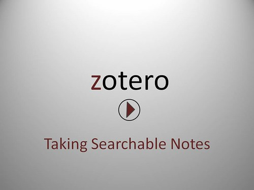 Taking Notes Screencast