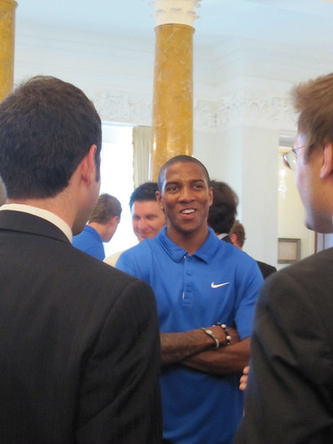 Ashley Young with guests
