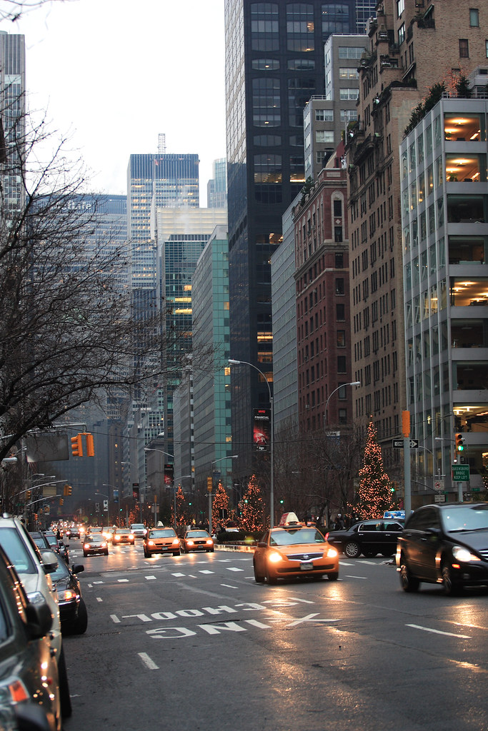 Park Avenue during winter
