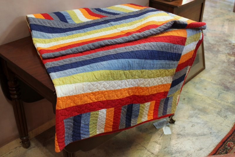 Antique striped quilt