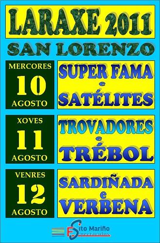 Cabanas 2011 - Festas de Laraxe - cartel grande