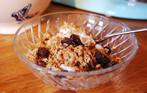 granola topped greek yoghurt