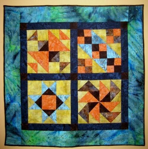 "Handcrafted Batik Wall Hanging ""Exploding African Batik"""