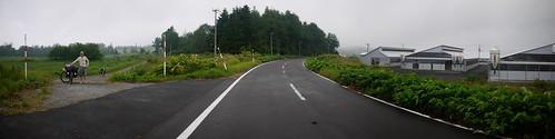 Gravel roads near Lake Toya, Hokkaido, Japan
