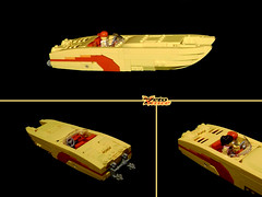 Powerboat (NPU contest final entry) (ZetoVince) Tags: yellow greek boat power lego vince vessel catamaran minifig powerboat npu zeto zetovince dreamdealer