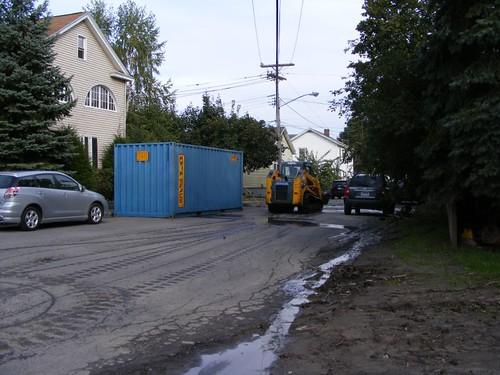 Mud, dumpsters, and gloom