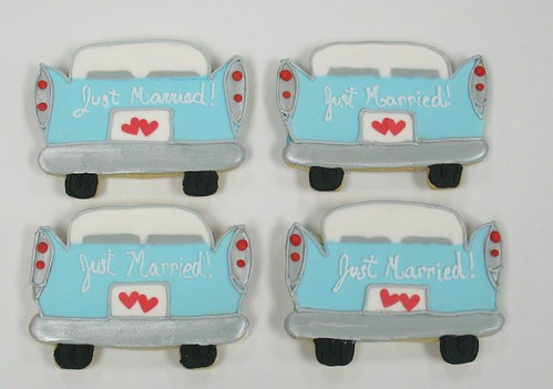 [Image from Flickr]:Just Married cookie favors