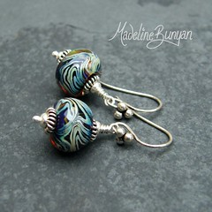 """Silver Glass Wig Wag Earrings • <a style=""""font-size:0.8em;"""" href=""""https://www.flickr.com/photos/37516896@N05/6194422947/"""" target=""""_blank"""">View on Flickr</a>"""