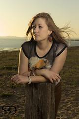 Rosie (S.B.Davis) Tags: sunset summer portrait brown beach female canon seaside model warm rosie sigma location ii brunette 1850mm 600d 430ex strobist